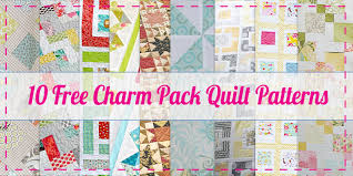 10 FREE Charm Pack Quilt Patterns - Easy Quilt Patterns! &  Adamdwight.com