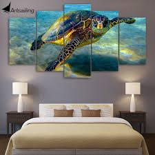 hd printed 5 piece wall art canvas deep ocean turtles canvas painting posters and prints large on turtle wall art painting with hd printed 5 piece wall art canvas deep ocean turtles canvas