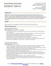 Orthodontic Assistant Resume Sample Lead Dental Assistant Resume Samples Qwikresume