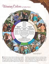 Winning Colors By Hobby Horse Use Chart To Match Your Show