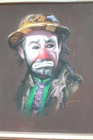 kelly brothers painting don rusty rust sad clown canvas oil painting rare kelly brothers painting jobs kelly brothers painting