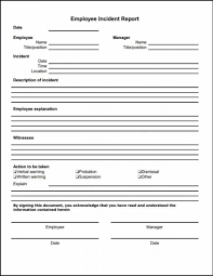 Child Care Incident Report Example Sample Accident Report Form Child Care With Incident