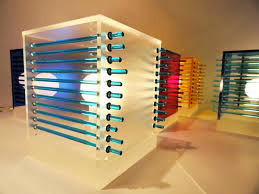 interior lighting design. Cool Interior Lighting Design Of Clear Frosted Cubes Color Table Lamp By Andarina Designs NY