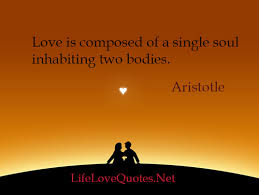 Soul Love Quotes Love is composed of a single soul inhabiting two bodies Useful 71