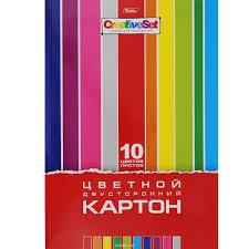 """<b>HATBER</b> Набор цветного двухстороннего <b>картона</b> """"<b>Creative</b> Set ..."""