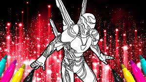 У тони старка есть все для счастья. Iron Man Infinity War New Suit Coloring Page Bleeding Edge Armor Youtube