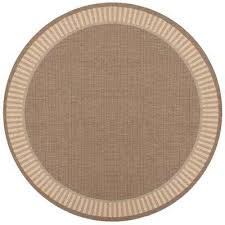 recife wicker stitch cocoa natural 9 ft x 9 ft round indoor