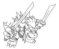 Small Picture Coloring Pages Extraordinary Bowser Coloring Pages Mario Jr