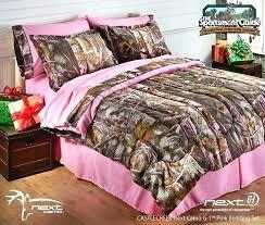 camo bedding queen pink comforter set