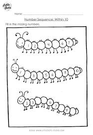 Awesome Number Sequence Worksheets Math Worksheets Kindergarten ...
