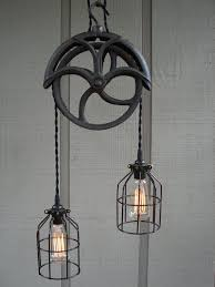 lovely unique lighting fixtures 5. lighting with pulley light fixture design idea vintage black iron great wheel pullet and rope cable lovely unique fixtures 5