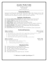 Sample Resume Of Office Manager – Andaleco