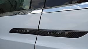 teslahome car door handle cover trim handle protector sticker model x carbon fiber decal for