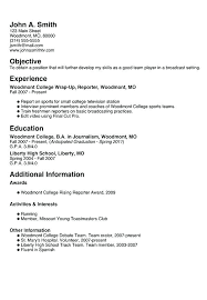 How To Make A Resume For A Highschool Student Inspiration College Resume Templates For Highschool Students Create A New See