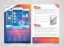 Two Page Brochure Template Creative Two Page Brochure Template Or Flyer Design With