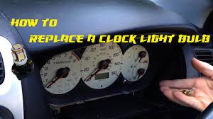 Ep3 Interior Light How To Replace A Clock Light Bulb Honda Civic Type R