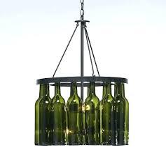 glass bottle chandelier jar recycled wine