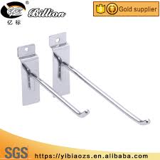 flat metal hooks. wholesale china factory metal display hook slot hooks flat