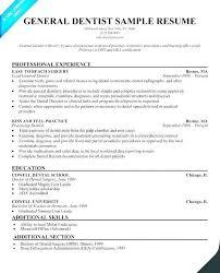 Dental Doctor Sample Resume Podarki Co