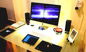home office setups. Work \u0026 Play \u2013 Best Of Both Worlds Mac PC Workstation Setups Office Home