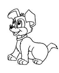 Small Picture Picture of a Cute Dog Coloring Page Color Luna