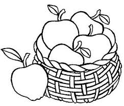 Fruit Coloring Pages Apples In Basket Coloringstar