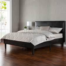 Platform Bedroom Furniture Amazoncom Zinus Deluxe Faux Leather Upholstered Platform Bed