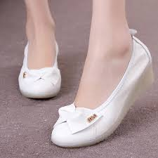 whole 2016 fashion white nurse shoes cowhide genuine leather wedges cow muscle nursing mother outsole shoes single shoes women s dansko shoes tennis