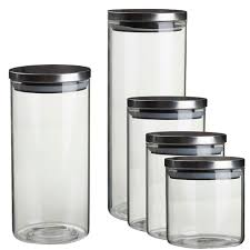 canisters stunning glass canisters with metal lids farmhouse