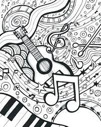 B is for banjo coloring page. Music Coloring Pages For Adults Free And Printable
