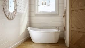 Image Japanese Square The Idea Of Installing Deep Freestanding Tub In The Average Bathroom May Seem Bit Over The Top But The Arietta Tub By Jacuzzi Is Sized To Fit In Fine Homebuilding Shapely Soaking Tub For Small Spaces Fine Homebuilding