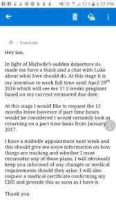 Maternity Leave Letter Template November 2017