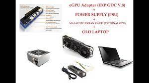 Laptop'a Masaüstü Ekran Kartı Taktık !! EXP GDC v.8 ( External Graphic Card  + Old Laptop ) - YouTube