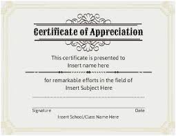Certificate Of Appreciation Templates Free Download Free Appreciation Certificate Templates Free Download Sample