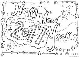 Small Picture Happy New Year 2017 Coloring pages Printable