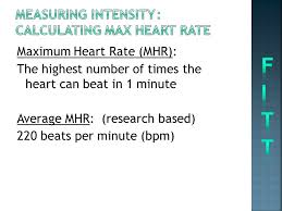 measuring intensity calculating max heart rate