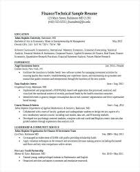 Data Analyst Resume Sample Best Of Sample Resume Of Data Analyst Finance Technical Sample Resume Sample