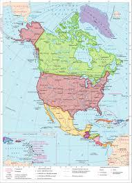 Население и политическая карта Северной Америки