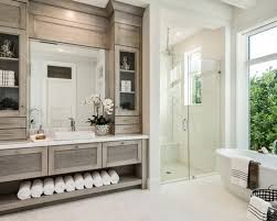 transitional bathroom ideas. Transitional 3/4 Beige Tile Floor Bathroom Photo In Other With Louvered Cabinets, Ideas I