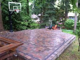 diy backyard basketball court. Beautiful Diy Patio Court Intended Diy Backyard Basketball T