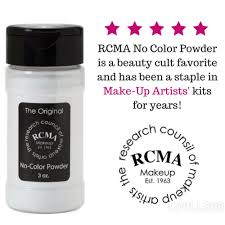 details about rcma no color powder 3oz bottle full sz face makeup loose setting powder sealed