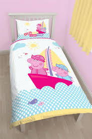 Peppa Pig Bedroom Accessories Peppa Pig Nautical Duvet Cover Bed Sets Curtains Amp Matching