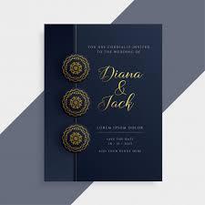 Wedding Card Design Luxury Wedding Invitation Card Design In Dark And Gold Color Vector