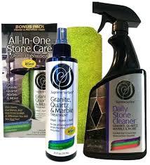 combo daily stone cleaner and granite quartz marble treatment countertop polish