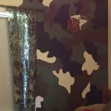 hand painted camo wall i penciled the design figured out which color would go