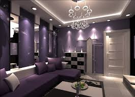 Small Picture purple walls Purple walls and purple sofa for living room design
