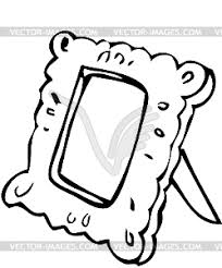 mirror clipart black and white. mirror - vector clipart / image black and white