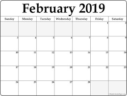 free calendar printable 2019 blank calendar february 2019 printable template download february