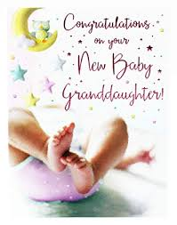 Congratulate On New Baby New Baby Girl Granddaughter Congratulations Greeting Card Newborn