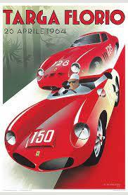 Shop art.com for the best selection of ferrari wall art online. Pullman Editions Poster Targa Florio 1964 Vintage Racing Poster Ferrari Poster Racing Posters